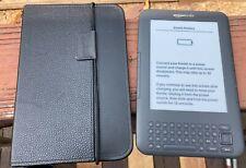 Amazon Kindle Keyboard 3rd Generation Model D00901 eReader bundle