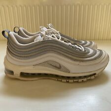 Nike Air Max 97 White Grey Leather Trainers Mens Size 7/41 B19