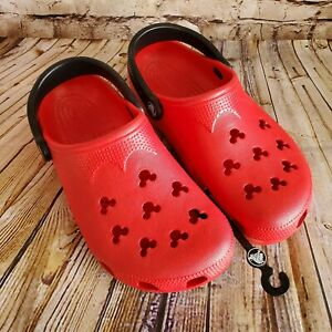 Disney Parks Red Mickey Mouse Classic Crocs M6-7/ W8-9 Adult Clogs NEW