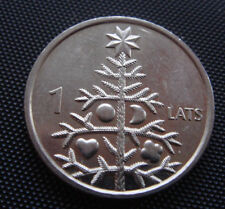 Latvia Letland 2009 1 lats coin christmas tree UNC FROM A BANK ROLL