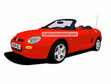 MG MGF CAR ART PRINT PICTURE (SIZE A3). PERSONALISE IT!
