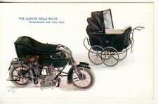 UK   THE QUEEN'S DOLLS HOUSE  Carriage & Motorcycle, Tuck Oilette postcard