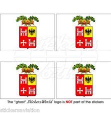 ASCOLI PICENO Drapeau ITALIE Italien Vinyle Stickers Autocollant 50mm x4