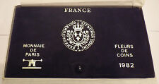 FDC TRES RARE COFFRET FLEUR DE COINS COMPLET DE 1982 @ QUALITE @ PETIT TIRAGE !!