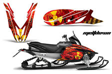 YAMAHA APEX GRAPHIC KIT AMR RACING SNOWMOBILE SLED WRAP DECAL 12-13 MELTDOWN RED