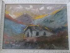 peinture montagne très belle couleur
