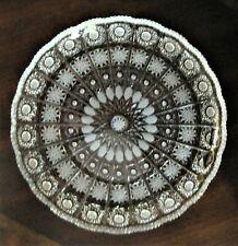 """Bohemia Czech Vintage Crystal Plate, 11"""" Wide, hand cut, Queen Lace"""
