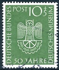 WEST GERMANY-1953 Science Museum 10pg 5pf Green Sg 1089 VERY FINE USED V18105