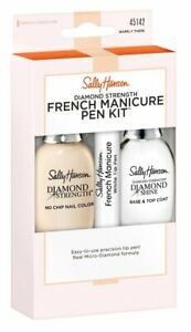 5 PACK Sally Hansen Diamond Strength French Manicure Kit (Barely There)