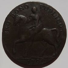 1792 Coventry half penny w/ Lady Godiva one side & Elephant on the other