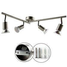 GU10 LED Deckenlampe Spot Strahler Wandlampe Deckenleuchte 4 flammig Halogen