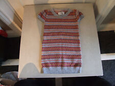 Beautiful H&M LOGG Knitted Girl's Multicolour Knit Dress Girl Age 4-6