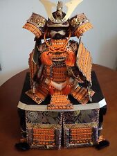 Japanese Samurai Warrior Armor W/Storage Box-Vintage From Japan