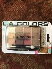 L.A. Colors 12 Color Eyeshadow Palette With Applicator Traditional BEP421 BNIP