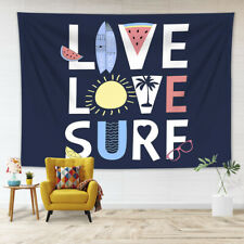 Love Surf Creative Writing Fonts Tapestry Wall Hanging Living Room Bedroom Dorm