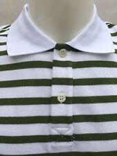 GF Ferre Italian Men's Polo Shirt S strips white/green