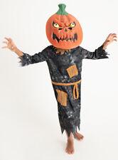 Halloween Boys Petrifying Pumpkin Reaper Fancy Dress Dressing up Costume H18