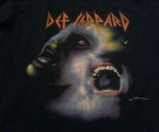 Vtg Def Leppard  Hysteria 80's Double Sided Graphic T-shirt Sz L Runs Smaller