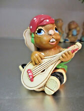 "Pendelfin Rabbit Made In England ""Casanova"" with Red Hat Chalkware"