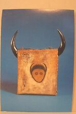 NATIVE AMERICAN INDIAN POSTCARD, UNUSED, CHIEF SITTING BULL'S DRUM, FRONT VIEW