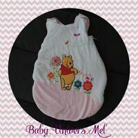 Gigoteuse Turbulette 0 - 6 mois Disney Winnie L'ourson rose et blanc TBE