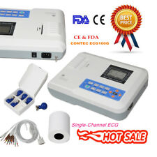New 1 Channel Portable ECG/EKG 12 lead machine Electrocardiograph CONTEC ECG100G
