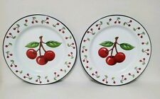 Set Of 2 Vintage Red Cherries Mary Engelbreit Plates