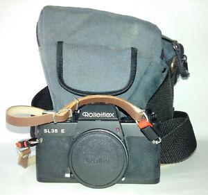 Rolleiflex SL35 E (Black) Film Camera with Rubber Eyecup, Body Cap, Bag