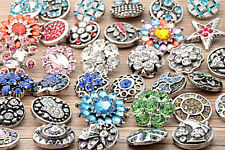 wholesale 10pc 18mm Interchangeable metal Buttons Snap Charms chunk Jewelryl