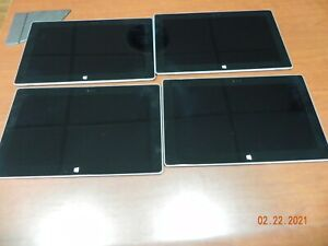 "*LOT OF 4 Tablets - Microsoft Surface RT 2 (1572) 32GB, 10.6"", Windows RT"