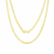 "14K Yellow Gold Solid 4mm Gucci Mariner Anchor Chain Pendant Necklace 16""- 24"""