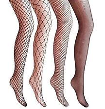 4 Packs Magik Women Fishnet Stocking Cross Seamless Nylon Mesh Tights Pantyhose