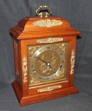 Walnut Musical Bracket Mantel Clock by ELLIOTT LONDON : AUTO NIGHT SHUT OFF