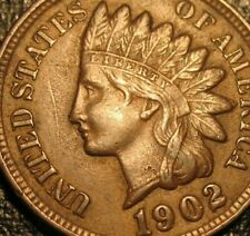 Old US Coins 1902 Indian Head Cent Penny Sharp Full Liberty Beauty Luster