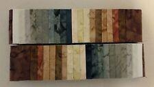 "Batik  Jelly Roll - 40 Strips - 2.5"" x 44"" - Quilting - Free AU Post !"