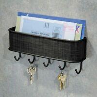 Mail and Key Holder Entryway Wall Mounted Key Organizer Rac
