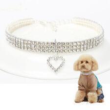 Dog Cat Collar Rhinestone Diamante Pet Necklace Puppy Crystal Diamond Bling