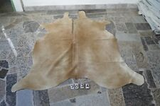 BUTTER CREAM COWHIDE! Rug HAIR ON SKIN  Leather cowhide 3034-  71'' x  66''