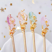 Hair Stick Chinese Style Metal Rhinestone Hair Fork Hair Chopsticks Hairpin
