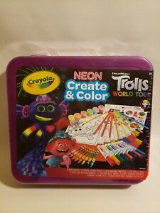 Trolls World Tour Dreamworks Crayola Create Color Art Case 71 Pieces Boys Girls