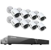 LaView 16 Channel DVR 1TB Security System & 8 HD 1080P Indoor Outdoor HD Cameras