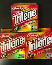 (3) Spools BERKLEY Trilene XL Armor Coated Line 10lb (220yd) Green/Vert. SAVE$!