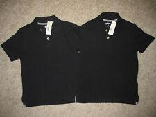 Arizona Jeans Boys Size 8 Short Sleeve Black School Uniform Polo Shirts Lot Nwt