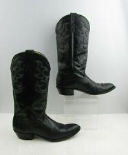 Ladies Nocona Black Lizard Print Round Toe Cowgirl Boots Size : 9 B