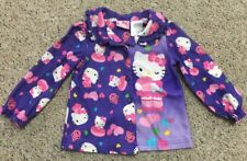 HELLO KITTY Cupcake Girls 3T Purple Pajama Top Longsleeve Glitter Buttons Sanrio