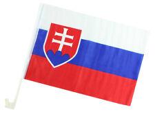 2 Stück Autofahne Slowakei WM2018 Weltmeisterschaft ca 45 x 30 cm
