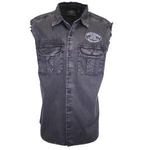 Harley-Davidson Men's V-Twin Powered Winged Blowout Sleeveless Shirt (S04)