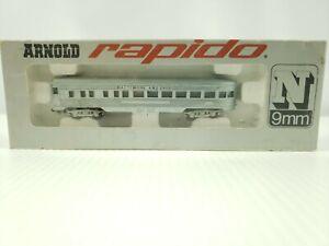 Arnold Rapido Passenger Cars Baltimore & Ohio #0355B EUC N Scale
