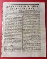 Aérostat 1797 Projet d'attaque de l'Angleterre Annales Politiques Revolutionl