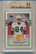 1989 Topps Sterling Sharpe (Rookie Card) (#379) (All 9.5 Sub grades) BGS9.5 BGS